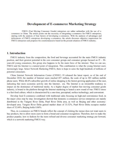 ecommerce development marketing strategy