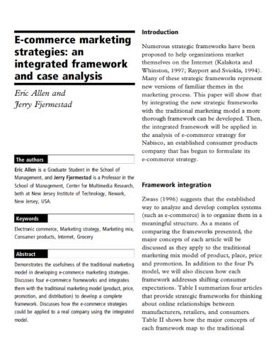 ecommerce marketing strategy analysis