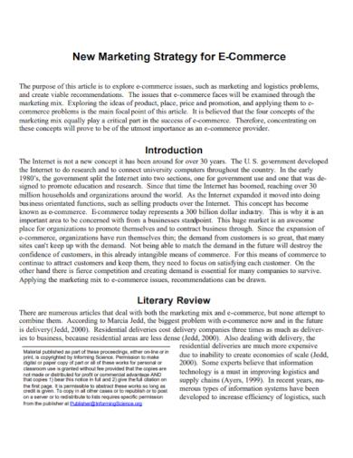 ecommerce new marketing strategy