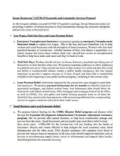 economic and community service proposal