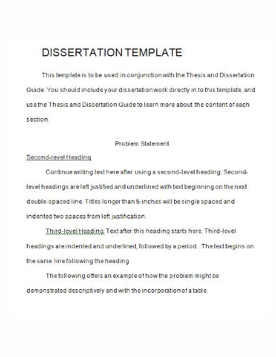 editable dissertation problem statement