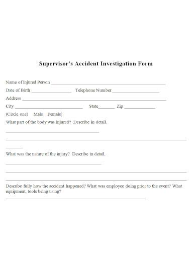 editable employee investigation report