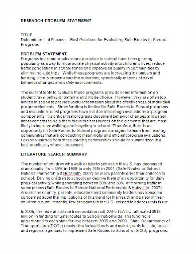 editable research problem statement