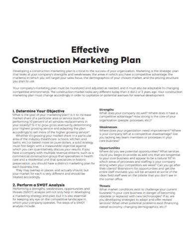 effective construction marketing plan