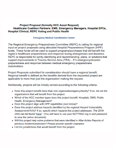 emergency medical coordination project proposal