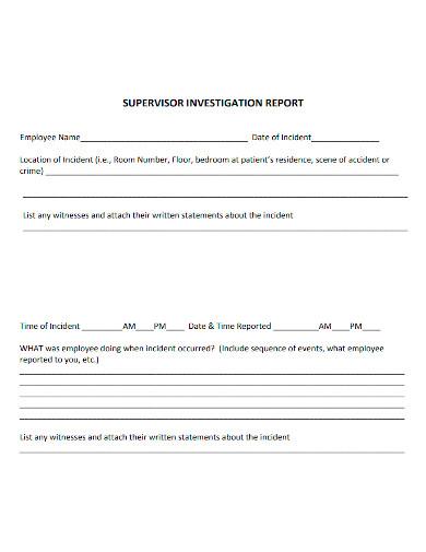employee investigation report format