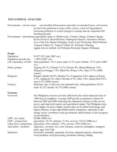 environmental economy situation analysis