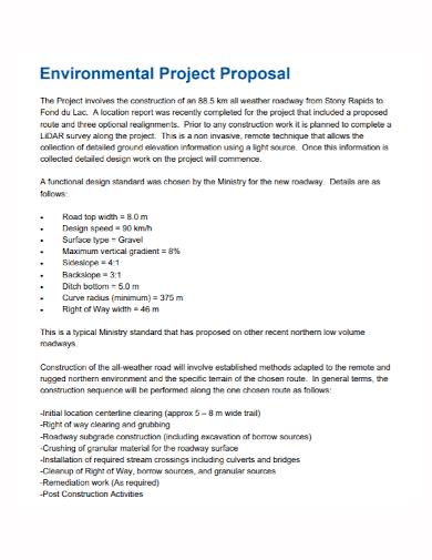 environmental project proposal