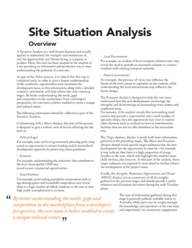 environmental site situation analysis