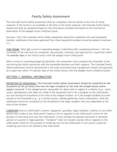 family safety assessment