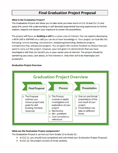 final graduation project proposal