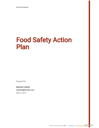 food safety action plan template