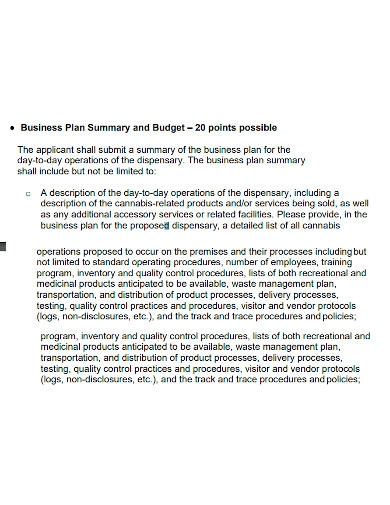 formal dispensary business plan