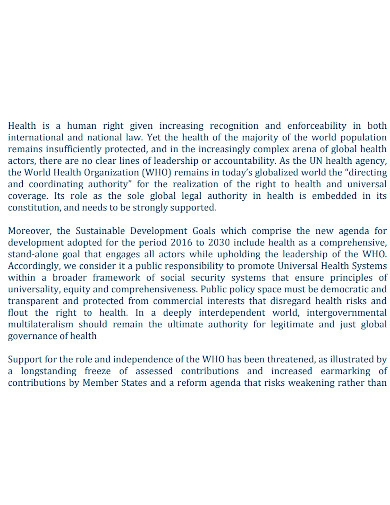 general health project proposal