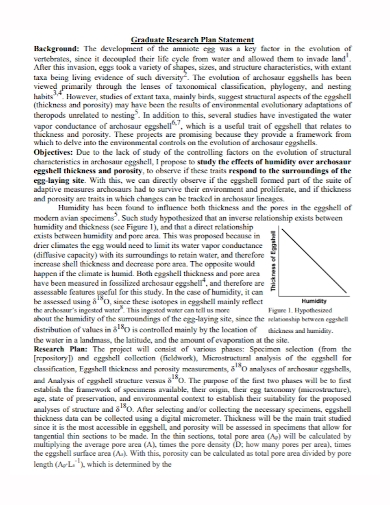 graduate research plan statement