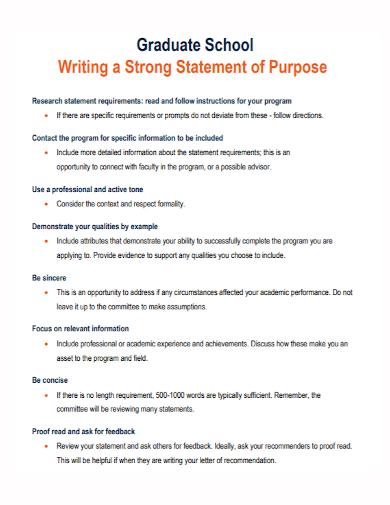 graduate school research statement