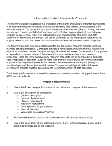 graduate student research proposal