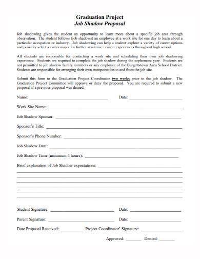 graduation project job shadow proposal