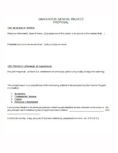 graduation senior project proposal