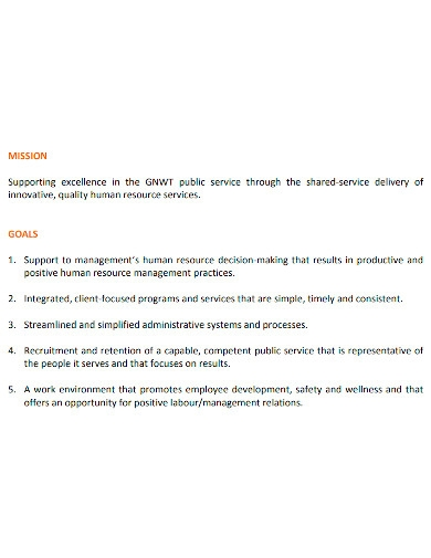hr business plan format