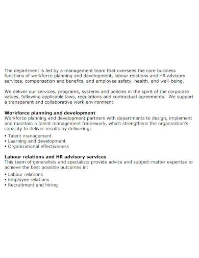 hr department business plan