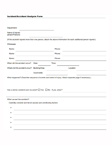incident accident analysis form