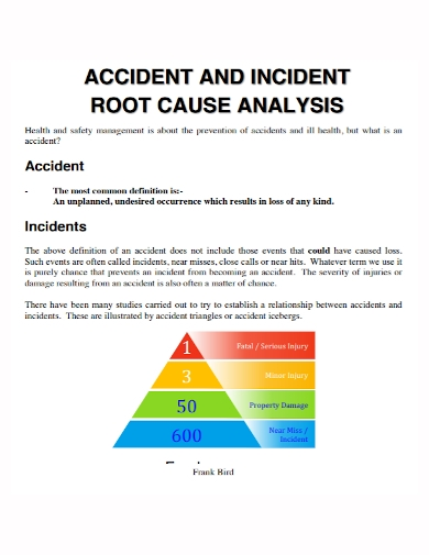 incident accident root cause analysis
