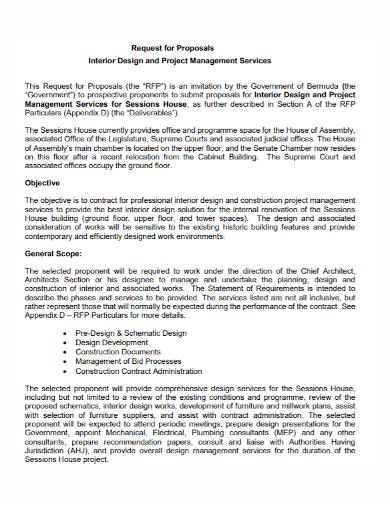 interior design project management proposal