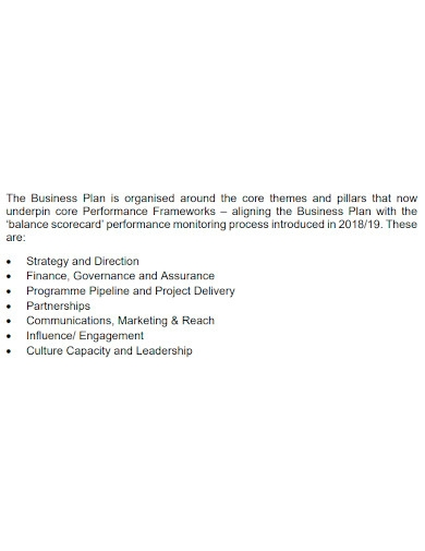 investment company annual business plan