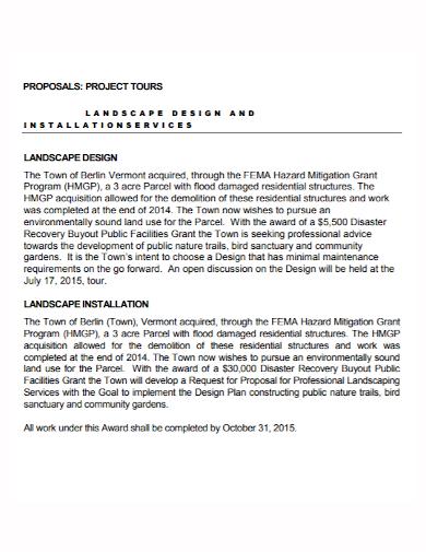 landscape design project proposal