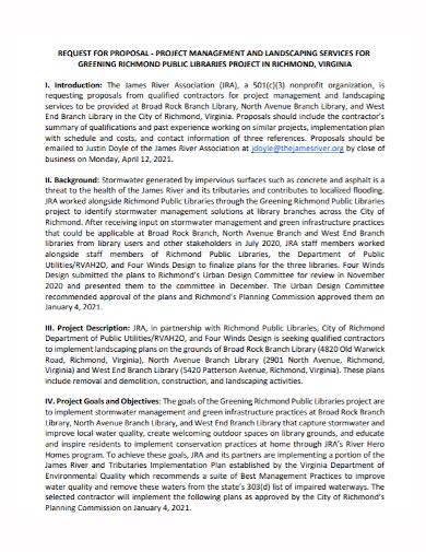 landscape project management proposal
