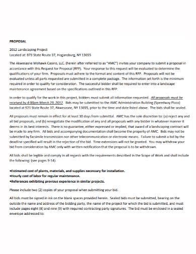 landscape project proposal