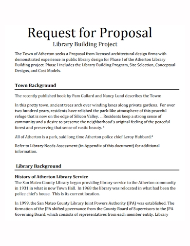 library building project proposal