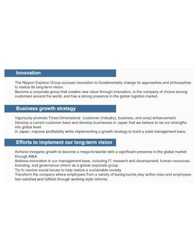 logistics business plan format