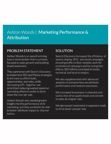marketing performance problem statement