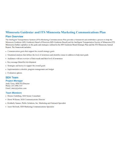 marketing team communications plan