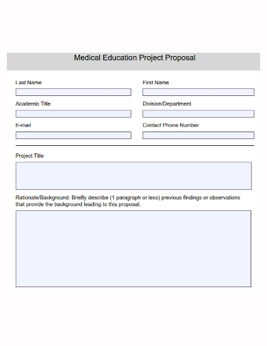 medical education project proposal