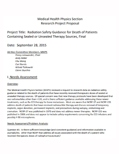 medical health project proposal1