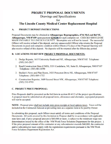 medical replacement project proposal