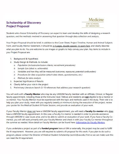 medical scholarship project proposal