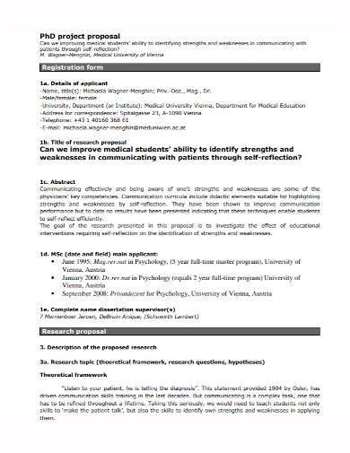 medical student project proposal