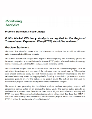 monitoring analytics problem statement
