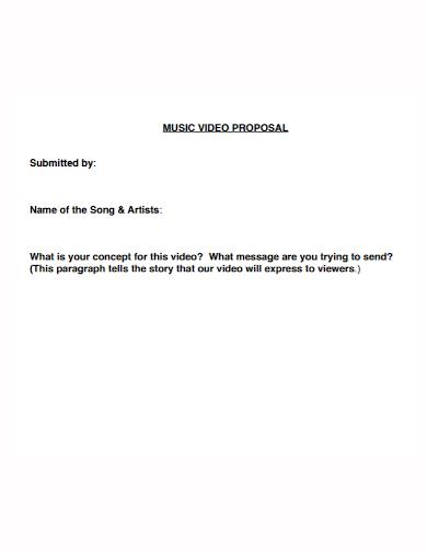 music video proposal format