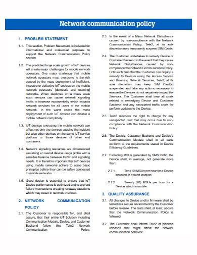network communication problem statement
