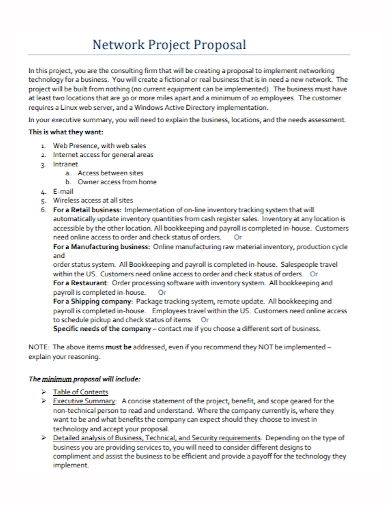 network project proposal