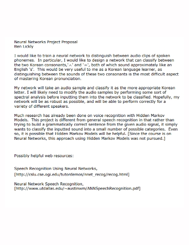 neural network project proposal