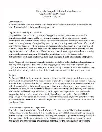 non profit administration program project proposal