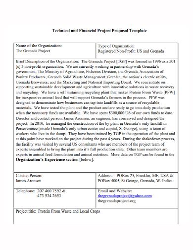 non profit financial project proposal