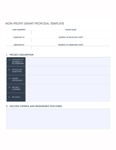 non profit grant project proposal