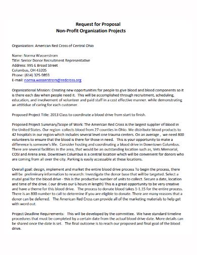 non profit organization project proposal